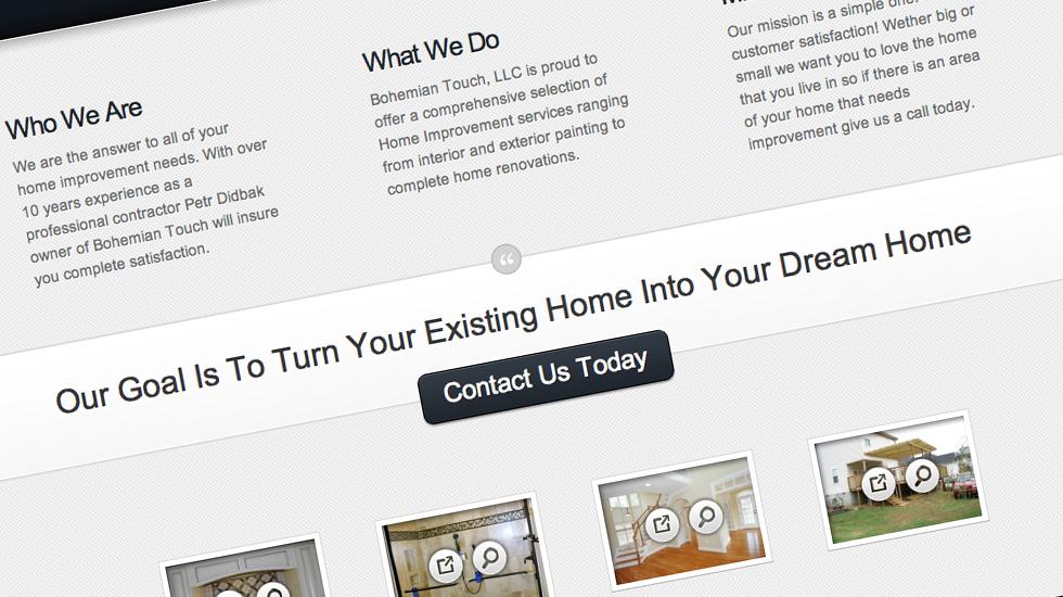 Bohemian Touch Website Design