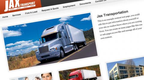 Jax Transportation Website Design | Spartanburg, SC