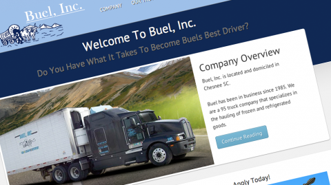 Buel, Inc. Website Design Spartanburg, SC