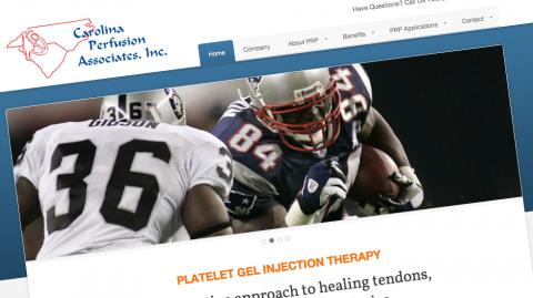 Carolina Perfusion Associates Website