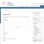 Platelet Gel Website | Custom Coded Contact Page